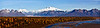 Denali, view from the east with Chulitna River and Ruth Glacier. #914.82. 1x3 ratio format.