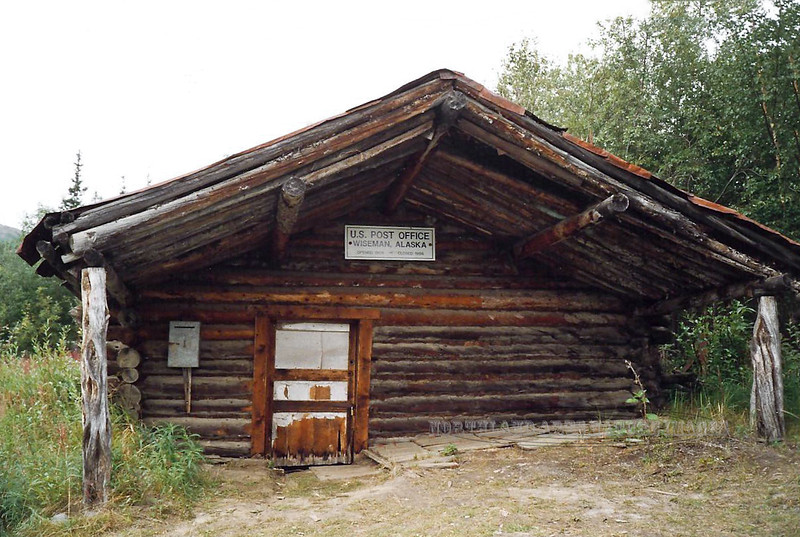 Primative Post Office. Wiseman, Alaska. Located on the south side of the Brooks Range Mountains off the Dalton Highway. #200184.073.