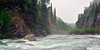 "A foggy day on the Upper Little ""Su"". Susitna River, Alaska. #628.037. 1x2 ratio format."