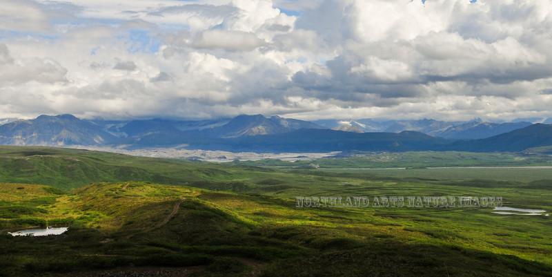 A glacial valley in the Alaska Range, Alaska. #723.053.