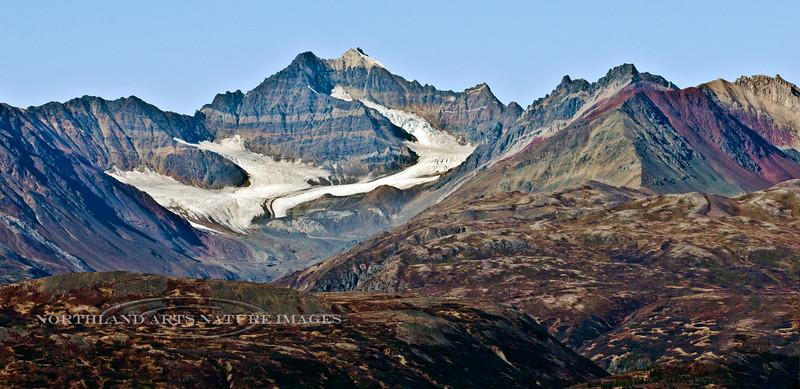 A dying glacier in the mid Alaska Range.  #925.036.