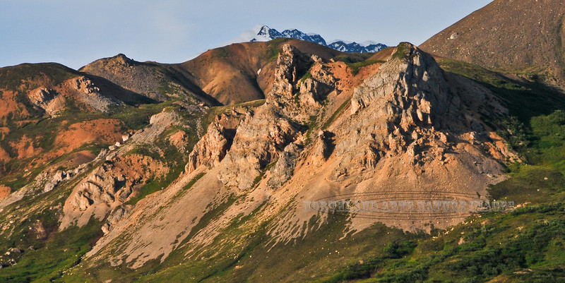 Limestone towers in the Alaska range, interior Alaska. #73.200.