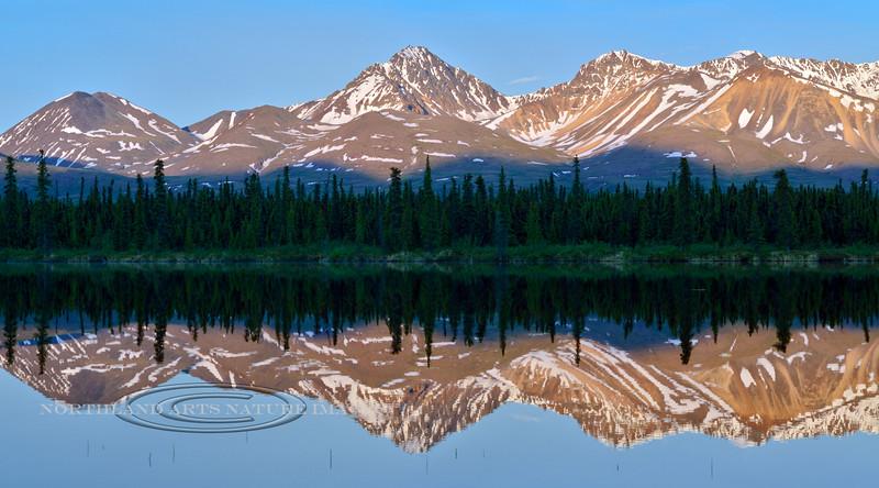 2014.6.23#124-Denali country reflections. Central Alaska Range, Alaska.