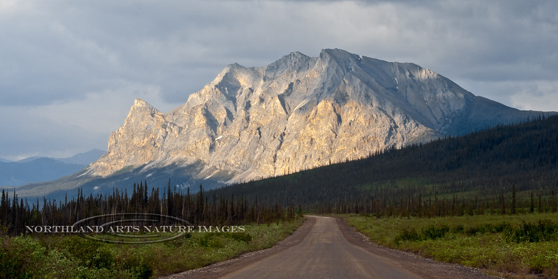Sukakpak Mountain. One of the most prominent and stunning landmarks along the Haul road. South side Brooks Range, Alaska. #69.089.