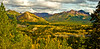 Colors surround the Riley Creek Tressel. View from Denali Nat. Park. #94.028.