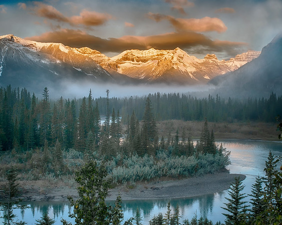 This early morning scenic photograph was captured in Banff National Park, Canada (9/06).  This photograph is protected by the U.S. Copyright Laws and shall not to be downloaded or reproduced by any means without the formal written permission of Ken Conger Photography.