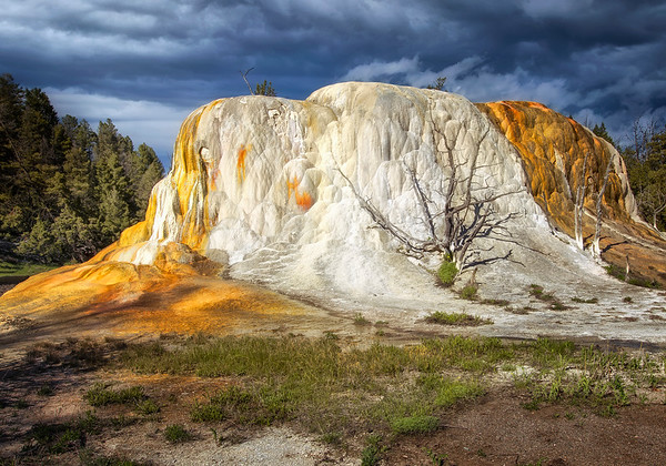 This photograph of a calcite formation was captured in Yellowstone National Park, Wyoming (6/11).   This photograph is protected by the U.S. Copyright Laws and shall not to be downloaded or reproduced by any means without the formal written permission of Ken Conger Photography.