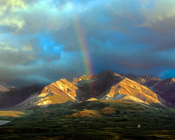 This photograph of a rainbow in the Polychrome area was captured in Denali National Park, AK (7/09).  This photograph is protected by the U.S. Copyright Laws and shall not to be downloaded or reproduced by any means without the formal written permission of Ken Conger Photography.