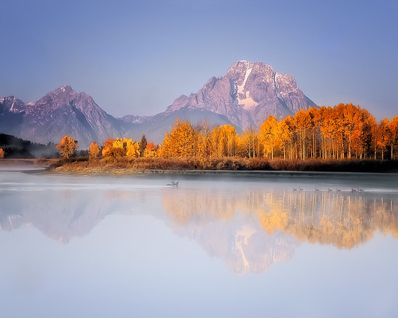 This is a photograph of the Oxbow Bend area of Grand Teton National Park, Wyoming (10/04).  This photograph is protected by the U.S. Copyright Laws and shall not to be downloaded or reproduced by any means without the formal written permission of Ken Conger Photography.