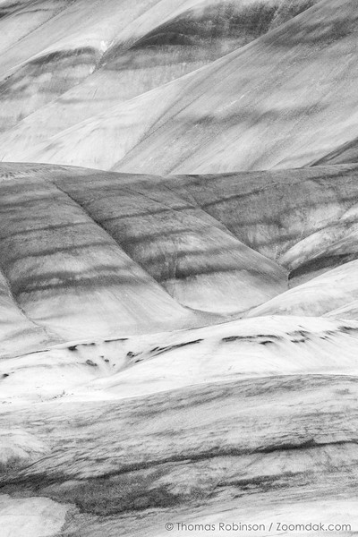 Painted Hills Black and White