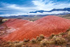 Red Painted Hills Landscape