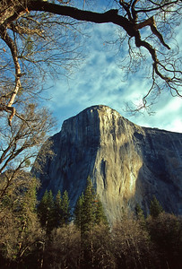 Massive El Capitan at sunrise, Yosemite National Park