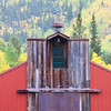 A colorful Colorado barn on Independence Pass.