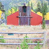Colorful barn on Independence Pass between Leadville and Aspen Colorado.