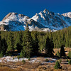 Early snow dusts peaks around the Lincoln Creek drainage between Independence Pass and Aspen.