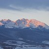 Sunrise over the Gore Range from Ute Pass road and Colorado 9.