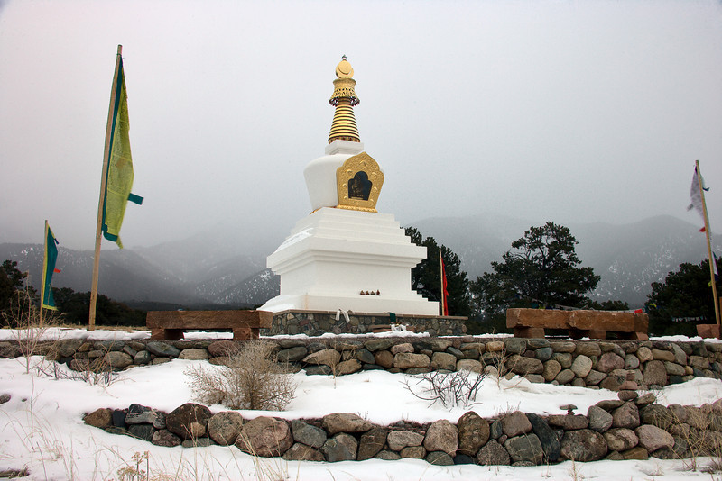 Padmasamabhava Stupa in Crestone is the first ever built in Colorado.