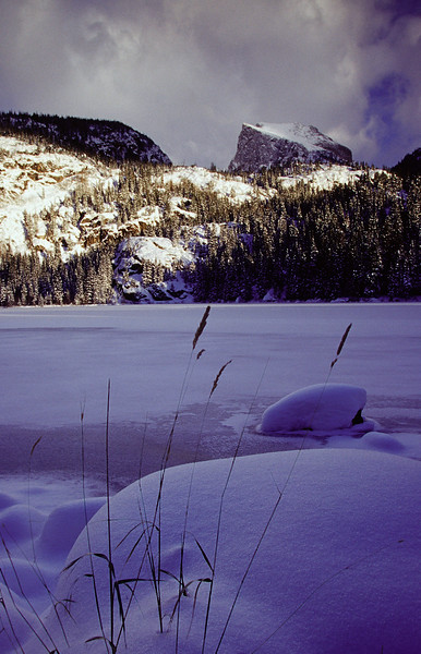 Fresh snow at Bear Lake in Rocky Mountain National Park