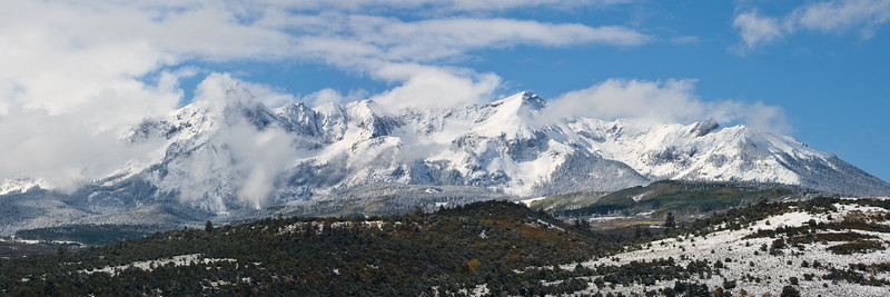 Mount Sneffels clearing on morning after a snow storm.