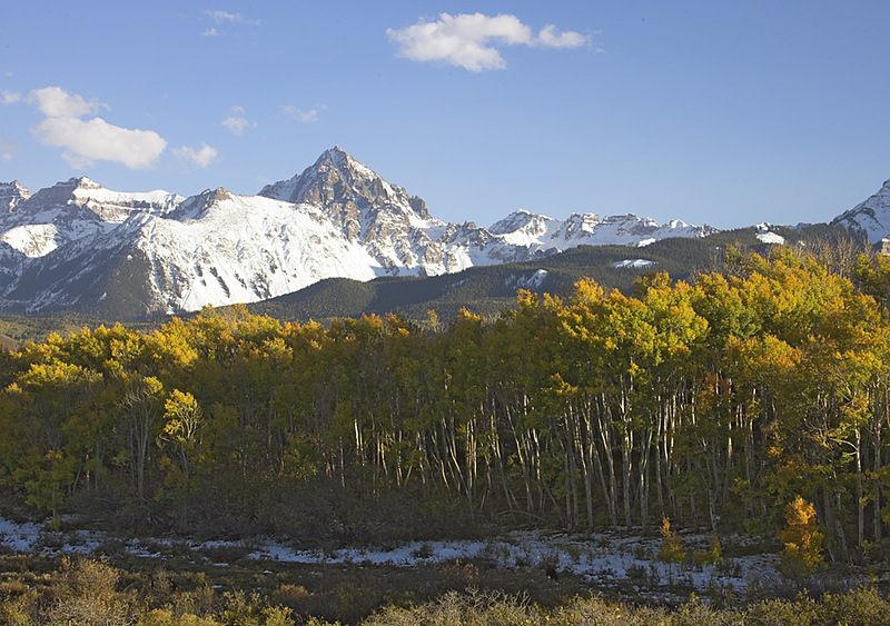Mount Sneffels viewed from Dallas Divide, outside Ridgway, Colorado.