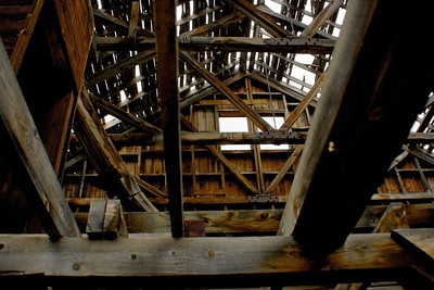Interior of ore house near Animas Forks.