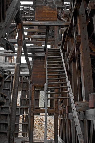 Interior of ore house near Animas Forks.