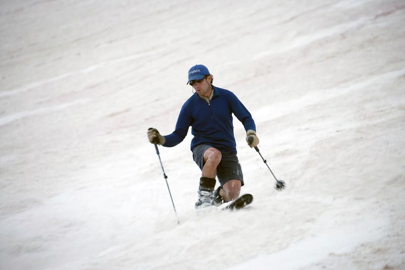 Spring skiing off Hurricane Pass near Silverton, Colorado