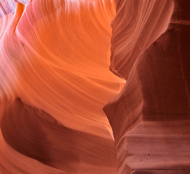 Canyon Waves; part of the walls of Antelope Canyon, Page, AZ