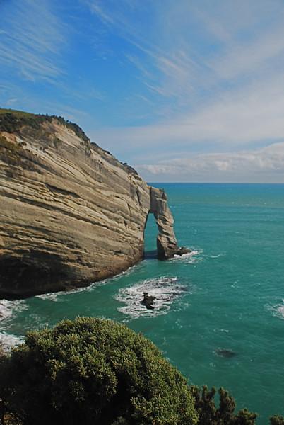 Coastal Arch; near Farewell Spit, South Island, New Zealand