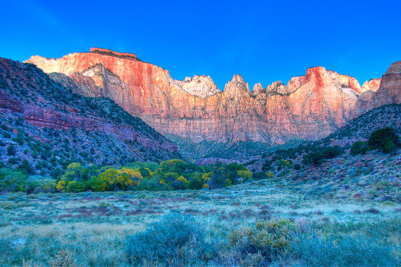 Sunrise at the Towers of the Virgin 1; Zion National Park, UT