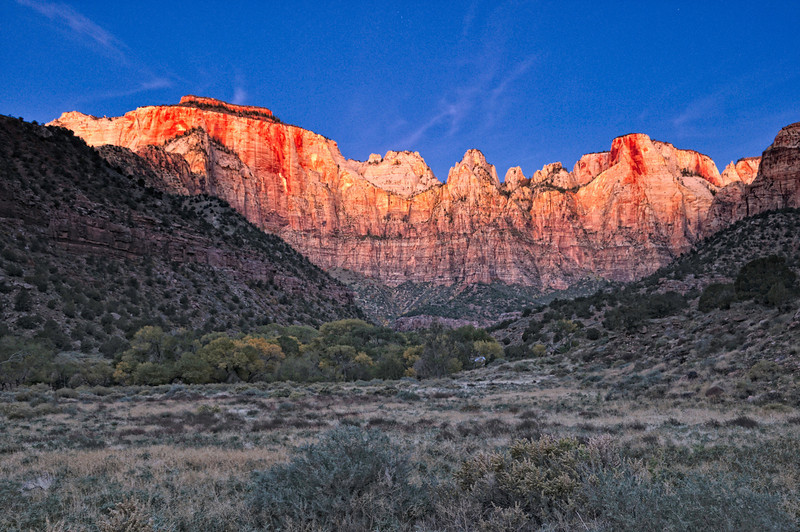 Sunrise at the Towers of the Virgin 2; Zion National Park, UT