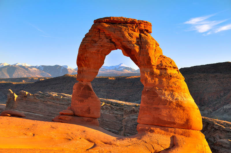 Delicate Arch at Sunset; Arches National Park, Moab, UT