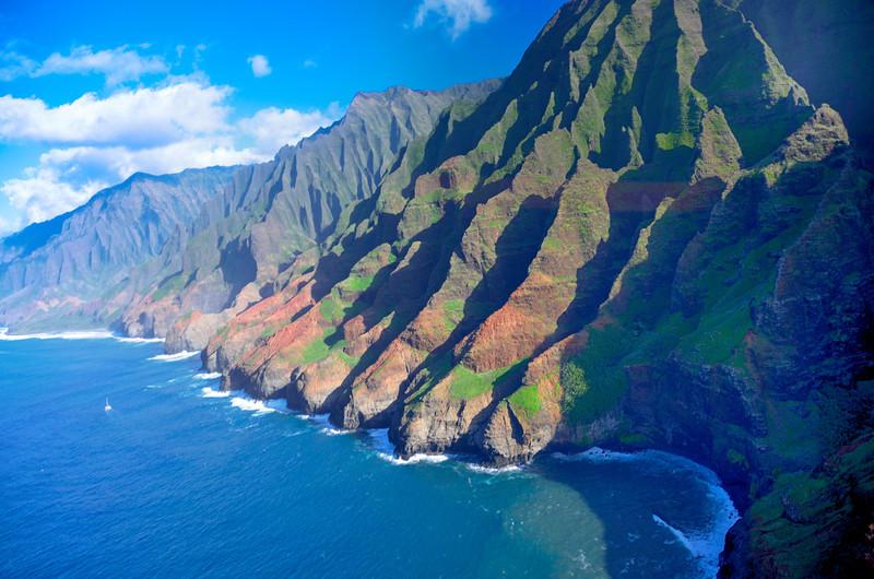 Na Pali Coast From Helicopter; Kauai, Hawaii