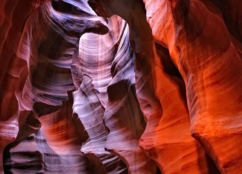 Changing Light; Antelope Canyon, Page, AZ
