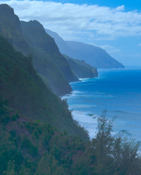 Na Pali Coast From Kalalau Trail; Kauai, Hawaii