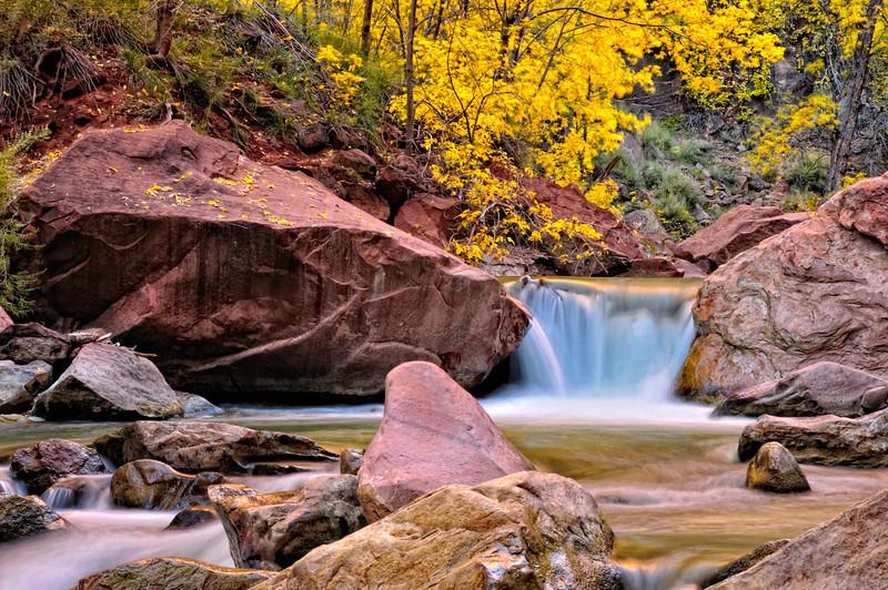 Autumn on the Virgin River 3; Zion National Park, UT