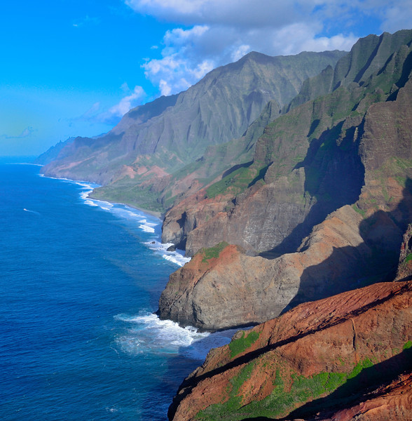 Na Pali Coast From Helicopter 2; Kauai, Hawaii