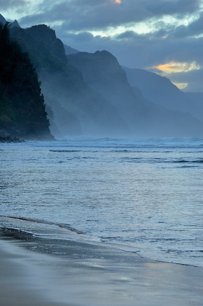 Na Pali Coast From Hanakapiai Beach; Kauai, Hawaii