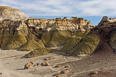 Bisti Badlands formations,  Bisti de Nat Zin near Farmington, New Mexico.