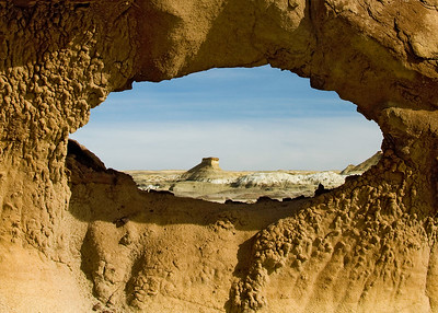 Arch in  Bisti Badlands -  Bisti de Nat Zin near Farmington, New Mexico.