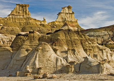 Eagle's Nest, Bisti Badlands,  Bisti de Nat Zin near Farmington, New Mexico.