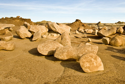Bisti Badlands rocks.