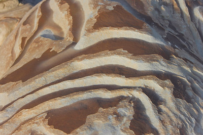 Patterns in rock, Bisti Badlands Egg Factory, Bisti de Nat Zin near Farmington, New Mexico.