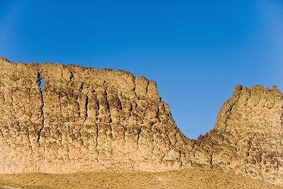 Veritcle fin leading to Shiprock volcanic stack near Farmington, NM