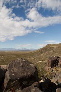 Three Rivers Petroglyph Site, between Tularosa and Carrizozo, New Mexico.