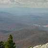 Looking south from Grandfather Mountain, North Carolina. Mount Mitchell is on the horizon--tallest point in America east of the Mississippi.