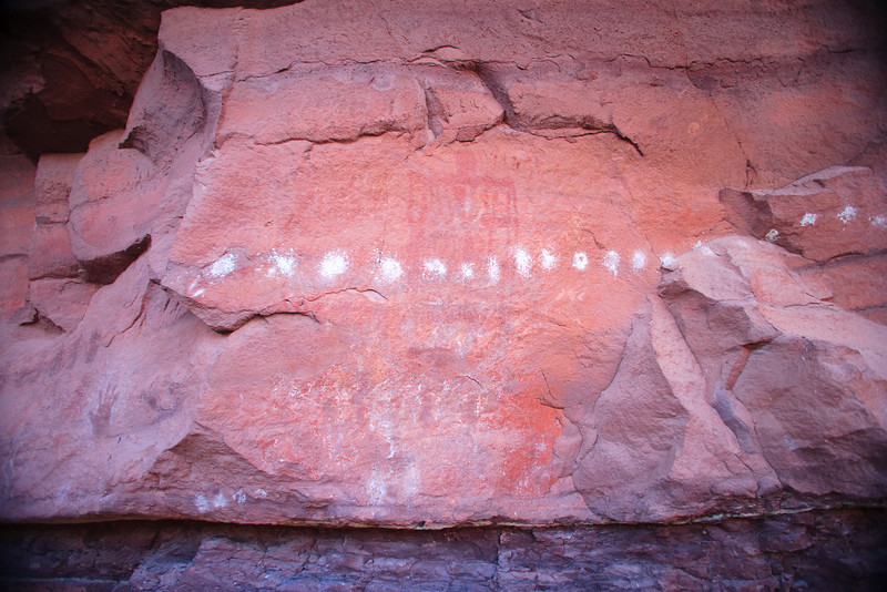 Rock art from different periods.