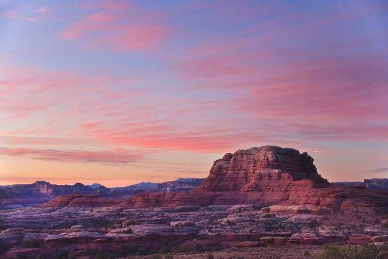 Sunrise and mesa near Elephant Hill.