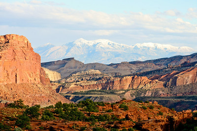 The Henry Mountains from Sunset Point in Capitol Reef National Park.