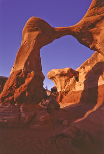 Metate Arch in Devil's Garden area of Grand Staircase Escalante National Monument